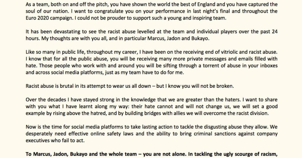 """""""YOU ARE NOT ALONE"""" An Open Letter to the England Team"""