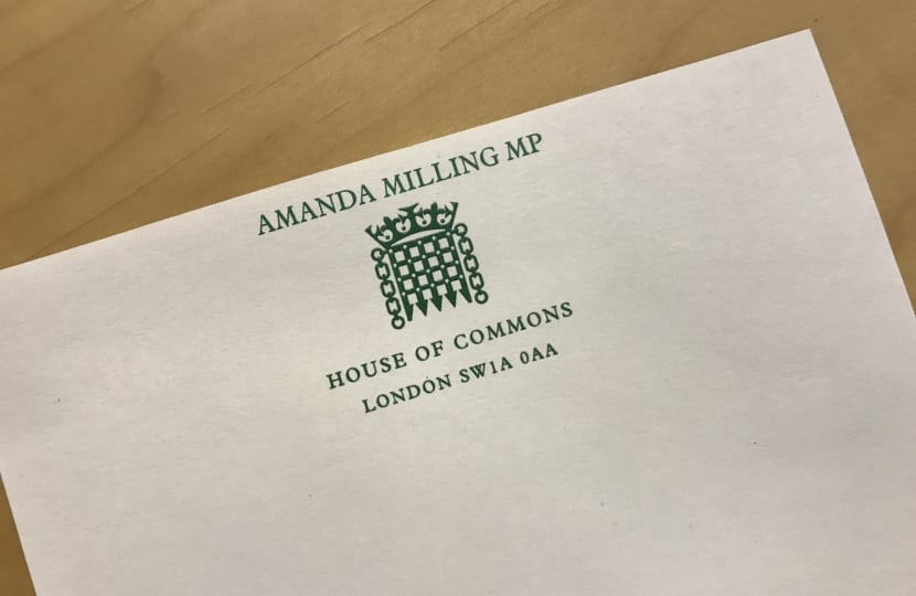 Update from Amanda Milling MP