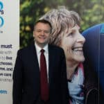 Nick Thomas-Symonds MP shows support for people living with dementia at the Labour Party Conference