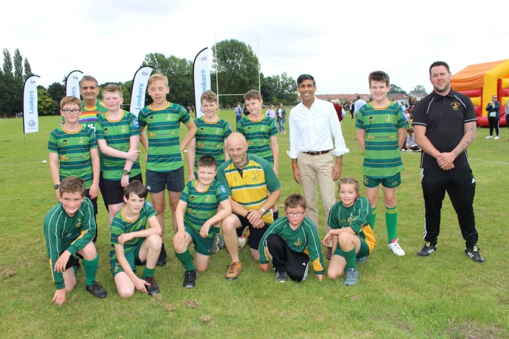 Rishi joins junior rugby stars at Northallerton RUFC